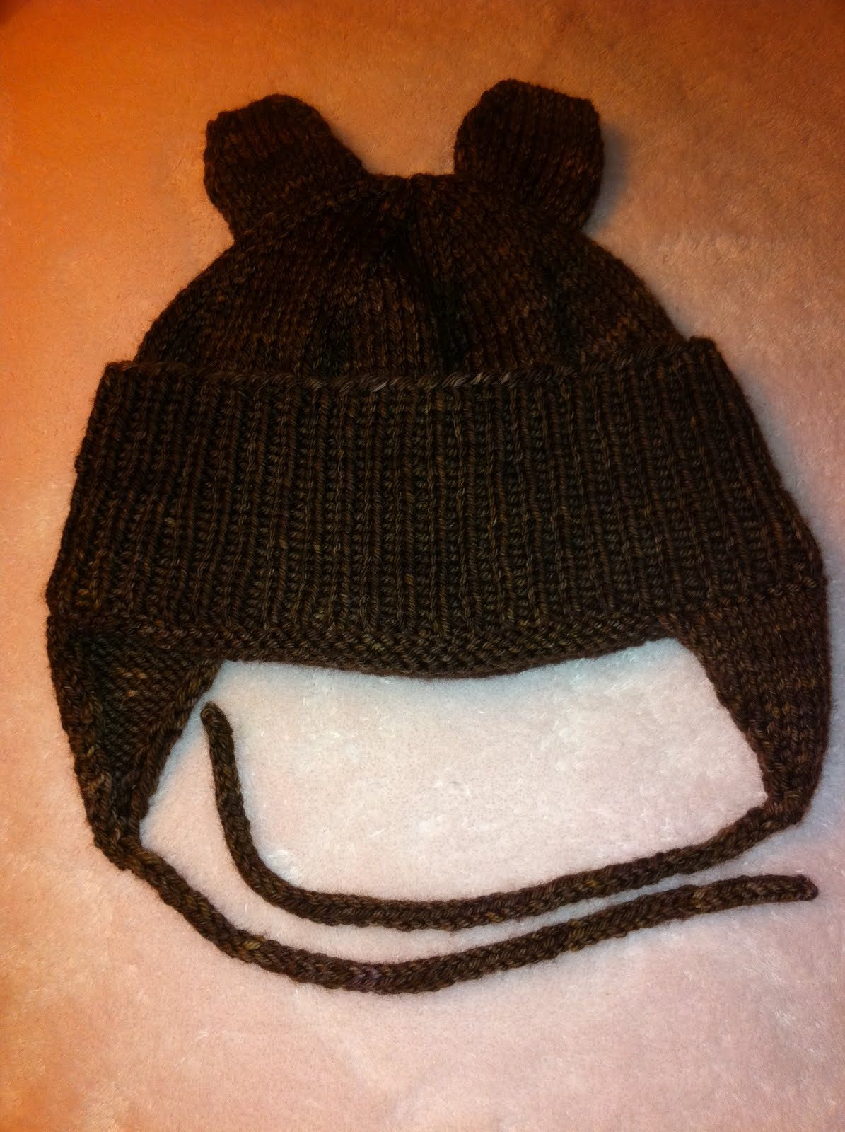Knitting Pattern For Teddy Bear Hat : The Collected Cook.: Knitted Teddy Bear Hat Pattern