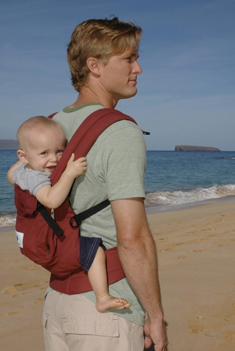 how to carry baby on back