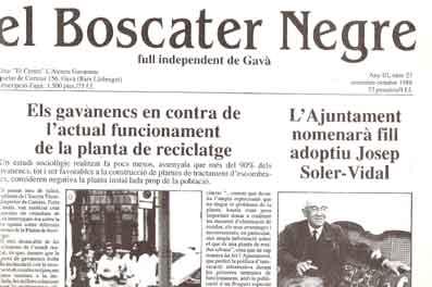 El Boscater Negre full independent de Gavà