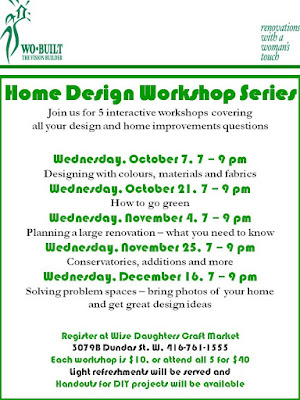 Flyer: 2009 Wo-Built wobuilt Home Design Workshop Wise Daughters West Toronto Junction