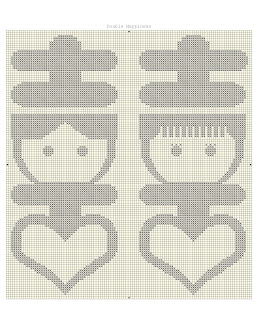 Double Happiness Cross Stitch - 囍