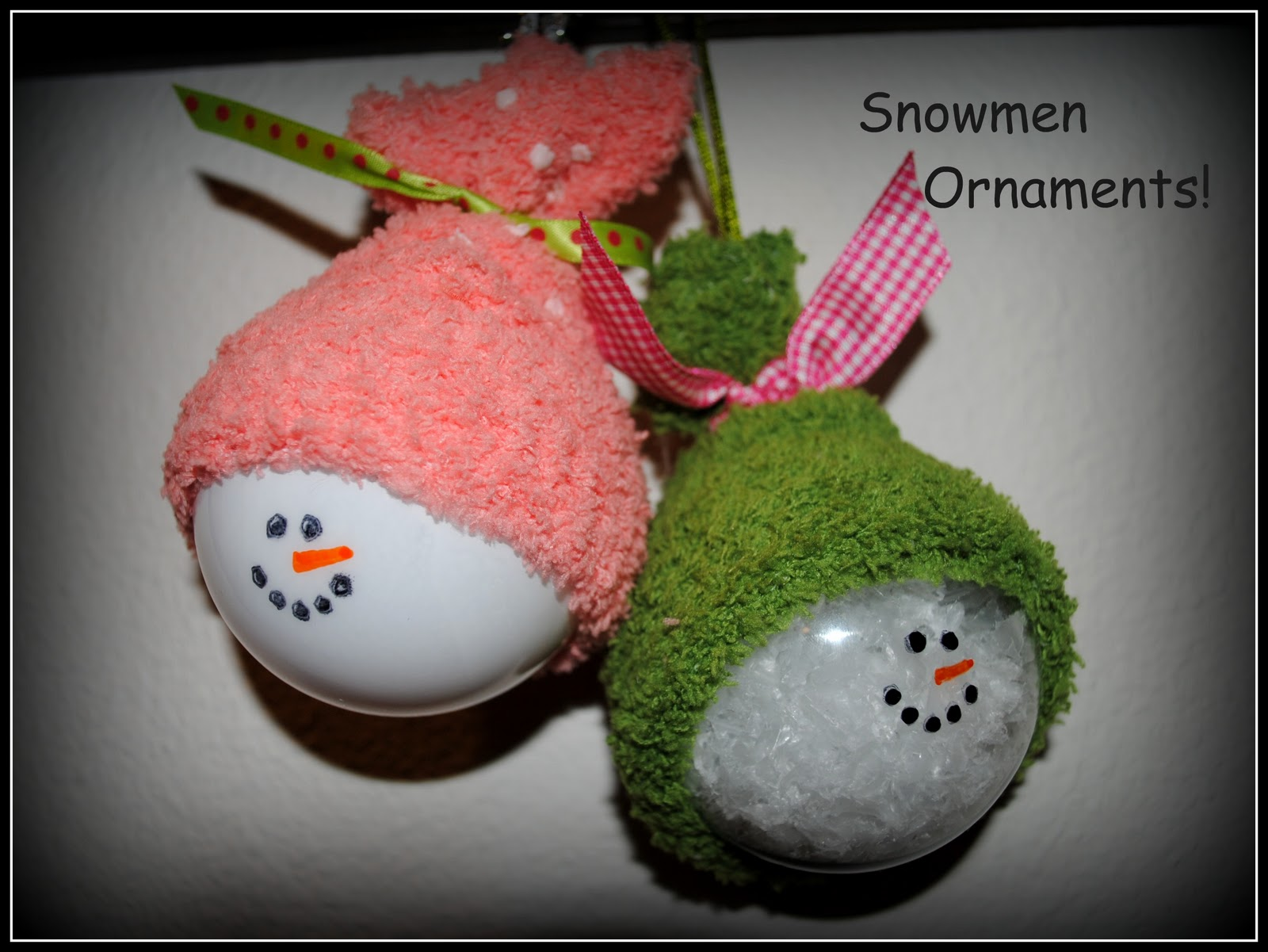 Simply cute creations snowmen ornaments for Crafts for clear glass ornament balls
