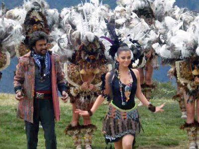 Enthiran (The Robot) director Shankar's dream project with Superstar Rajinikanth and Aishwarya Rai in Shooting Spot Stills