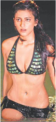 Daughter of Kamal Hasan and Sarika, Shruti Hasan is appearing in a two piece bikini