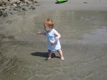 First trip to the beach