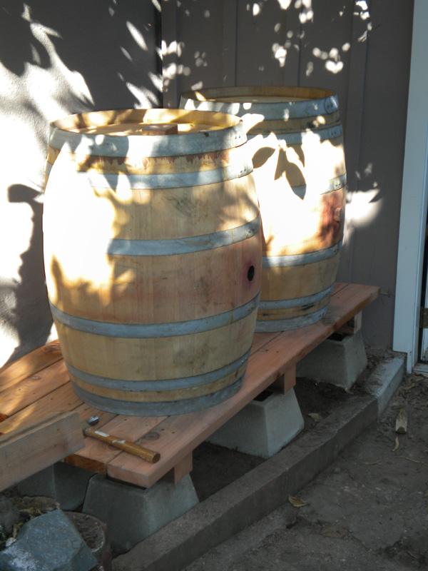 Gene's photo of the barrels on their brand new platform!