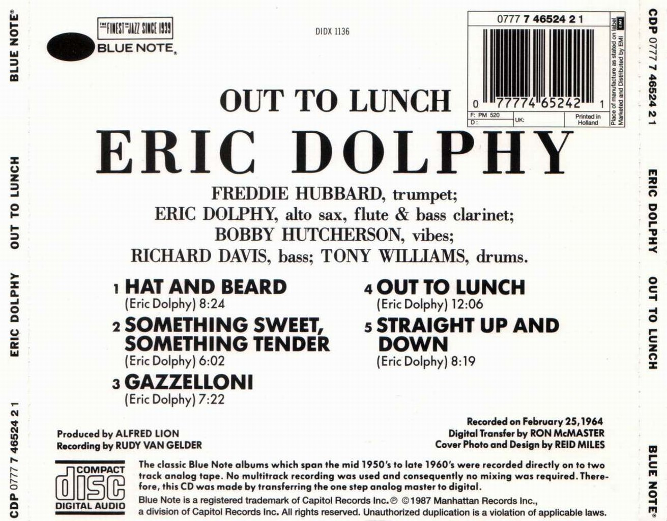 Eric Dolphy - Out To Lunch!