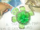 Tartaruga Marinha (garrafa pet)