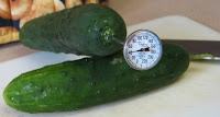 cucumber with thermometer