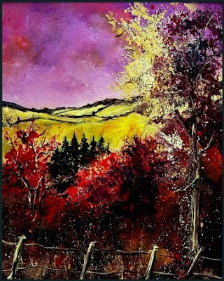 Autumn landscape in Houyet by pol ledent