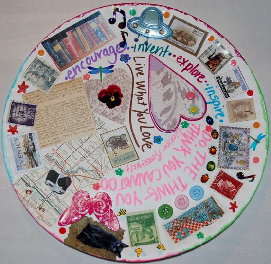 I love things like old books cameras maps st&s recipes butterflies cats quotes and recycling hereu0027s what I came up with. & TracyZcrafts: recycle paper plate