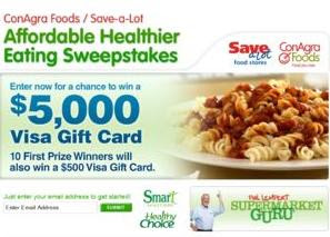 Savealotsweepstakes.com - Affordable Healthier Eating Sweepstakes
