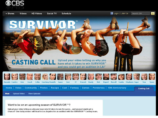Www.cbs.com/sears - CBS Survivor Casting Call Contest