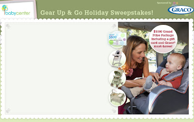 www.Babycenter.com, Babycenter Gear Up & Go Holiday Sweepstakes