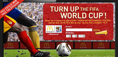 Meencanta.com McDonald's 2010 FIFA World Cup Home Theater Sweepstakes