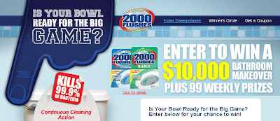 2000 Flushes Brand Bowl Season Sweepstakes, bowl-season.2000flushesbrand.com/sweepstakes