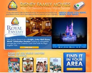 Disneyfamilymovies.com - Disney Family Movies Royal Fantasy Sweepstakes