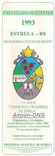 Estrela-RS - Calendário de Eventos 1993