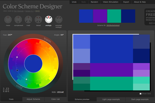 Gurney Journey: Color Scheme Designer