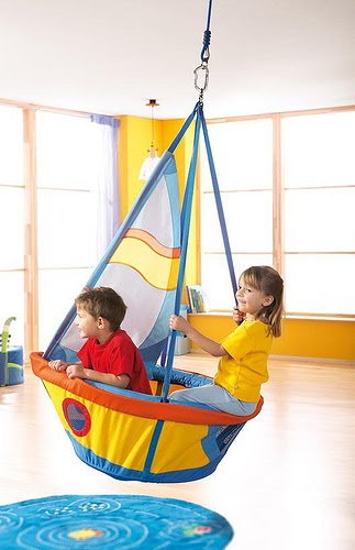 The boo and the boy hanging chairs swings in kids 39 rooms - Kinderzimmer schaukel ...