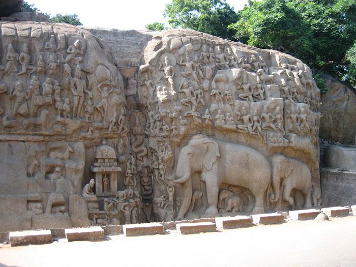 Mahabalipuram - Steinreliefs