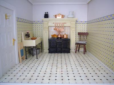 La casa delle bambole di flora nuovo pavimento in cucina