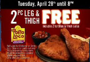 graphic about El Pollo Loco Coupons Printable named Pollo loco discount coupons june 2019