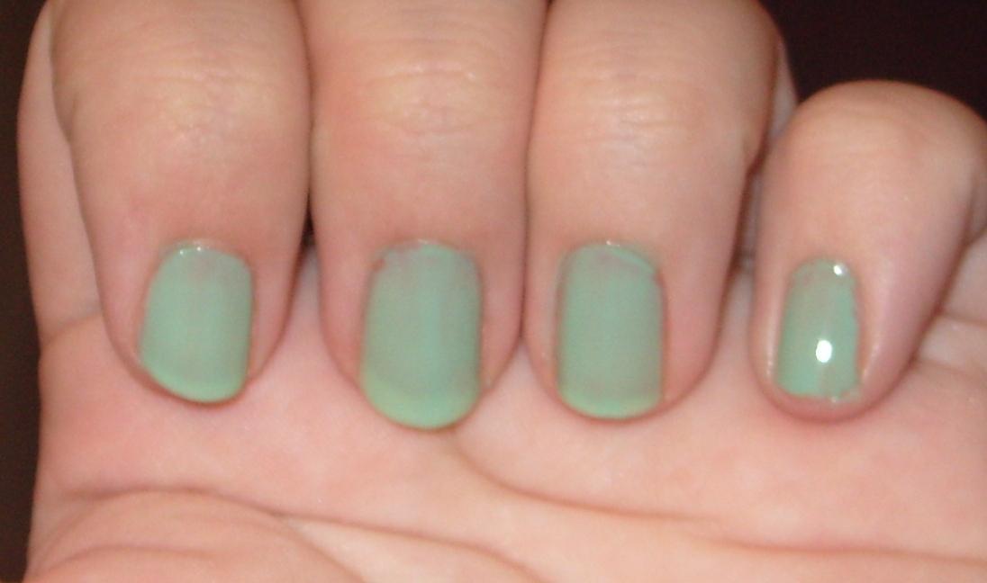 sharihearts: Under The Sea Blue/Green Marbling Nail Art