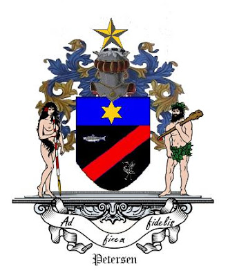 The Petersen Coat of Arms (click on it - to visit my FaceBook)