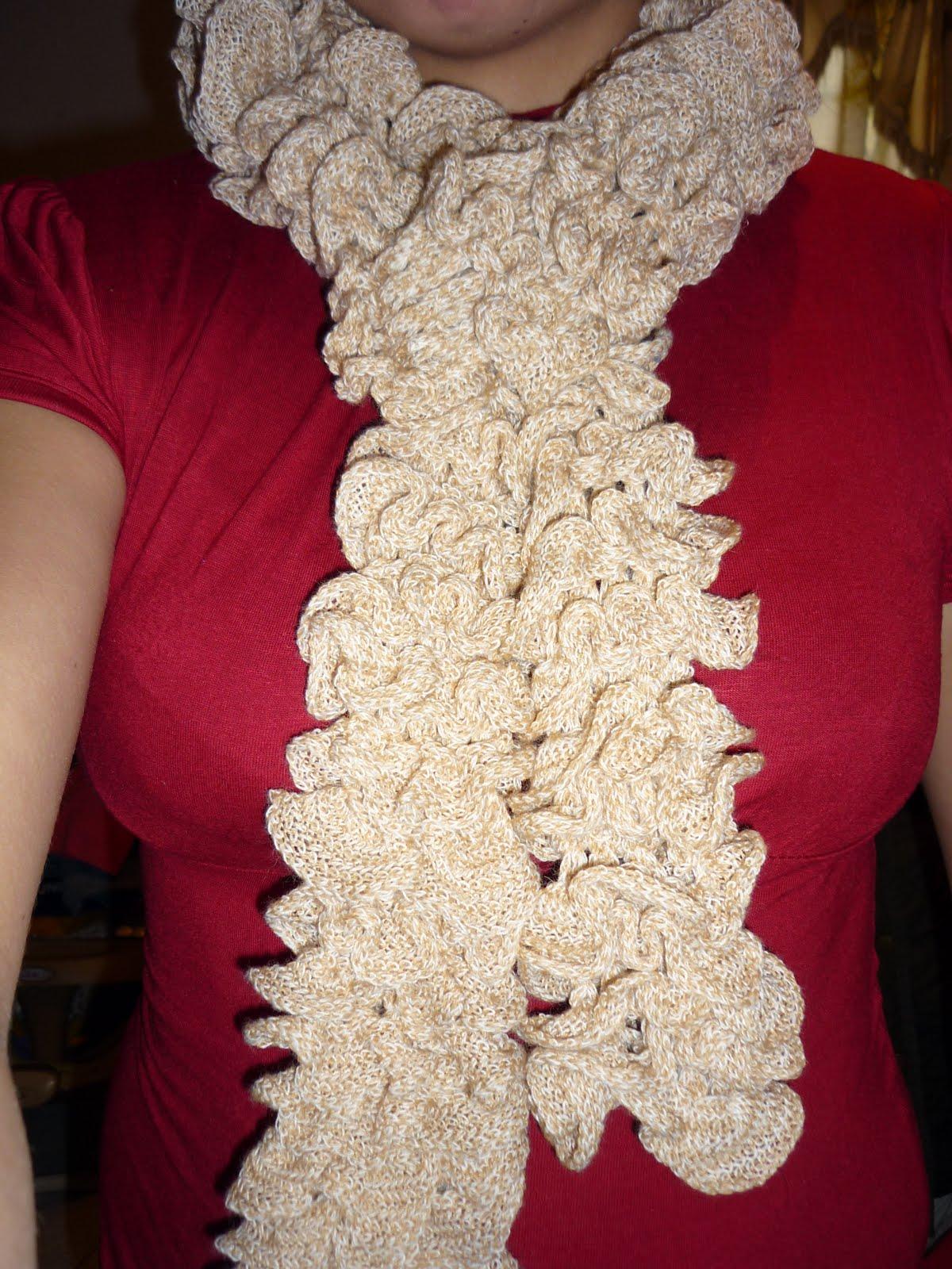 hace tiempo que vi este tipo de bufandas pero no tenia idea de como