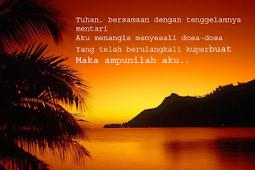 """<font size=""""5"""" color=""""green"""" face=""""arial"""">Renungan Malam</font>"""