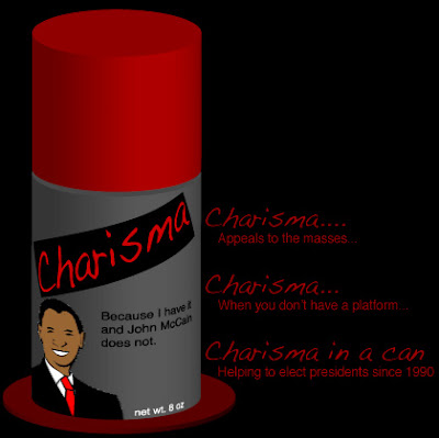 Illustration by Tony Sarrecchia for Illustration Friday. Charisma in a Can