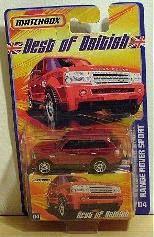 Matchbox Best of British RED - Range Rover Sport, 1:64 scale