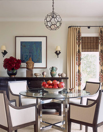 Victoria dreste designs dining rooms modern elegance for Eclectic dining room decorating ideas