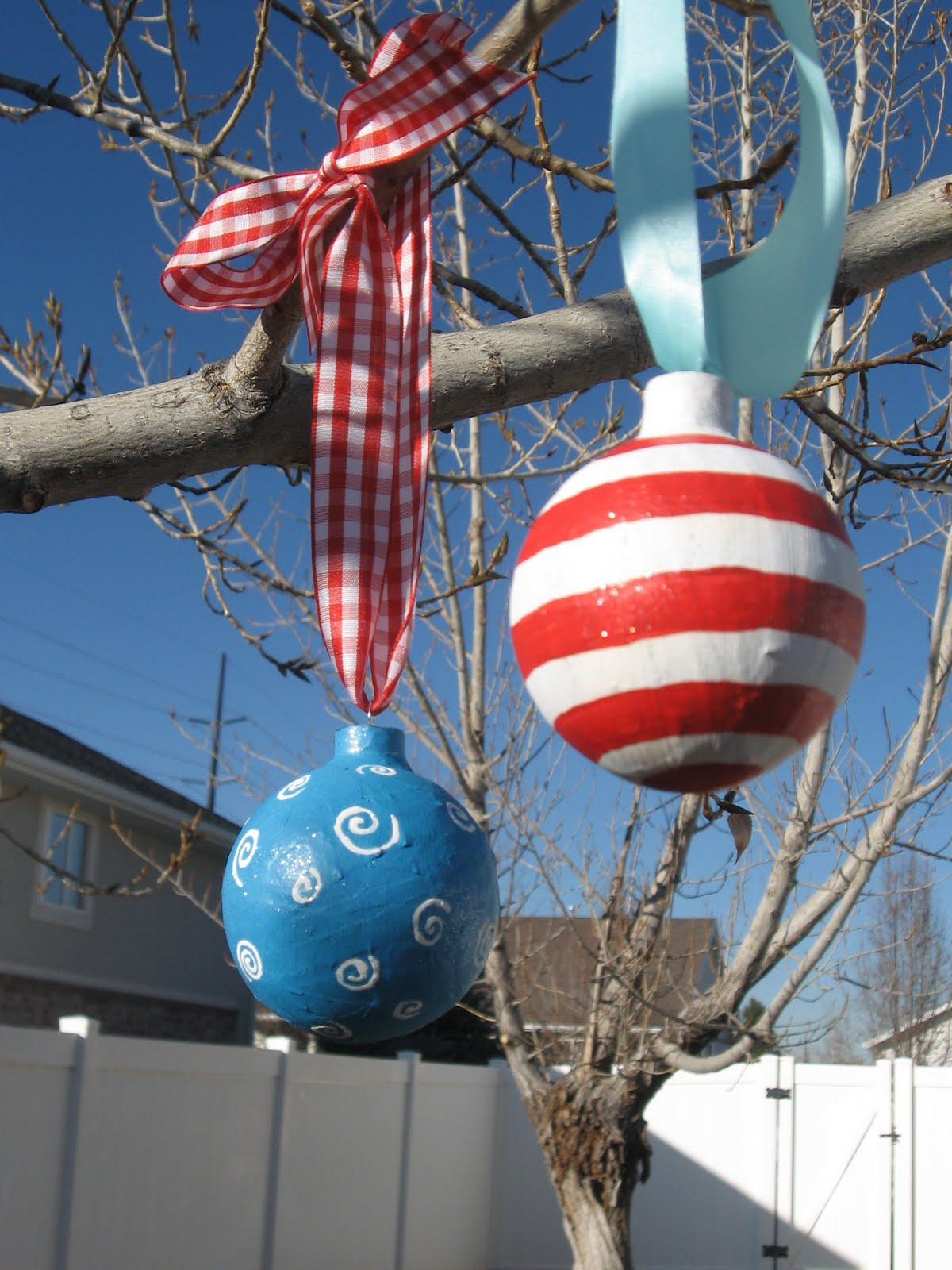 Outdoor Hanging Christmas Balls