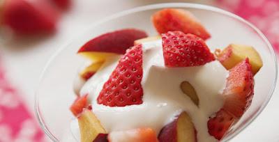 Frutas Con Crema de Vainilla