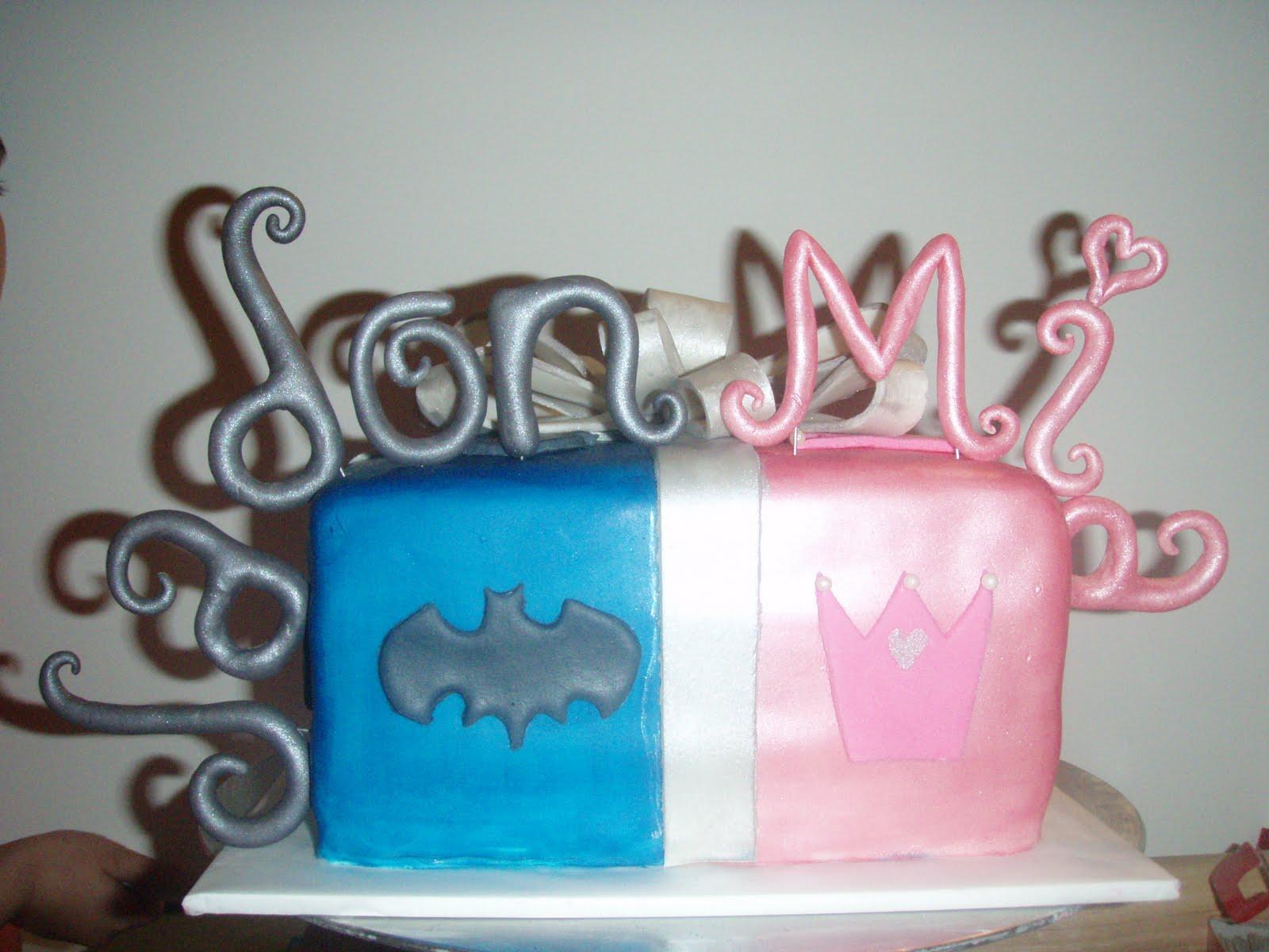 Pams Custom Cakes Boygirl Cake Cupcakes