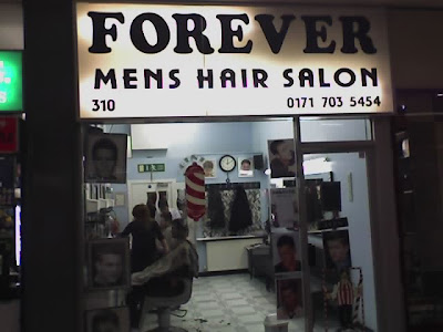The Worlds Worst Camera Phone: shop fronts: Forever Mens Hair Salon ...