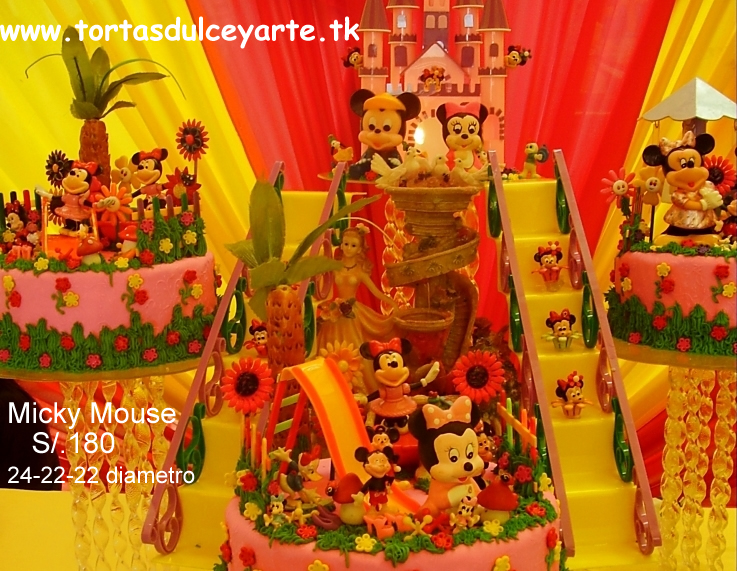 Pasteles De Minnie Y Mickey Mouse