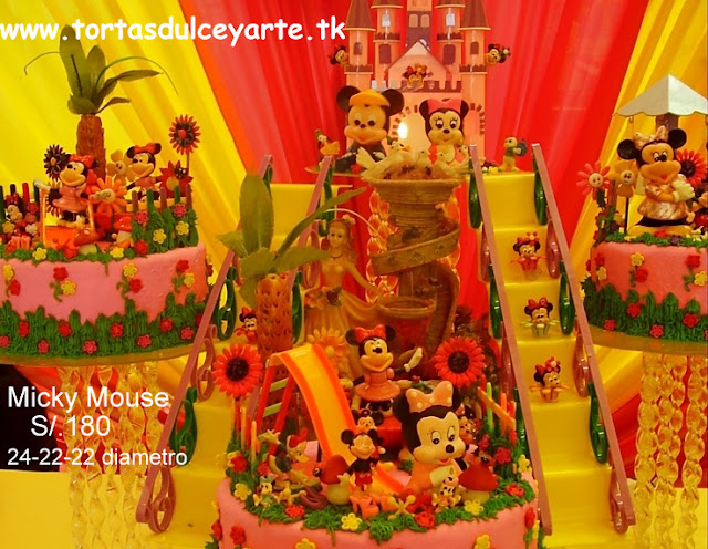 torta mickey minnie mouse lima peru