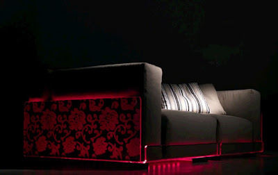 Asami Light LED Sofas by Colico Design, Italian furniture company, Color changing sofas