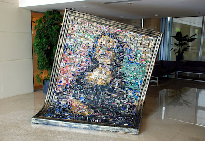 Digital Mona Lisa made of Motherboards from ASUS Taiwan