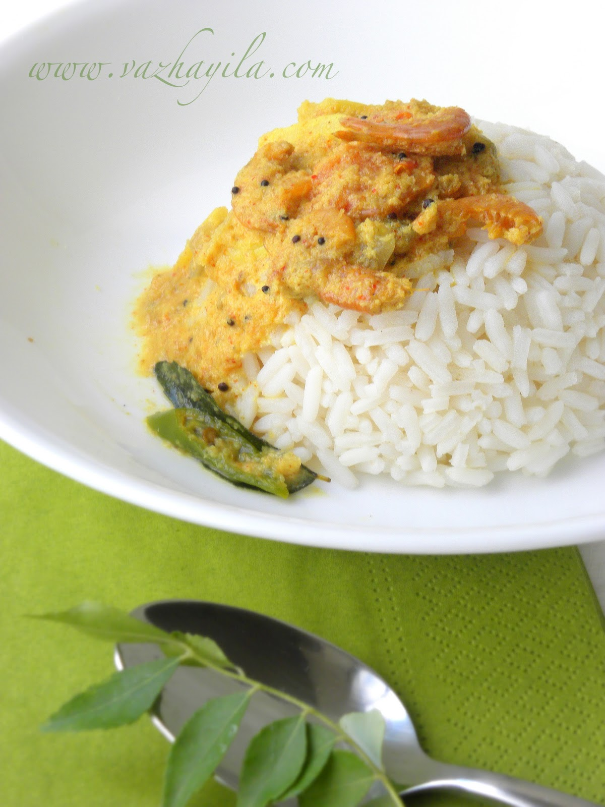 how to prepare dry prawns curry in telugu