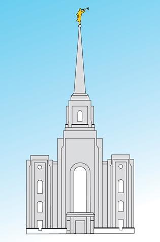 Mormón SUD: El modelo del Templo de Brigham-City
