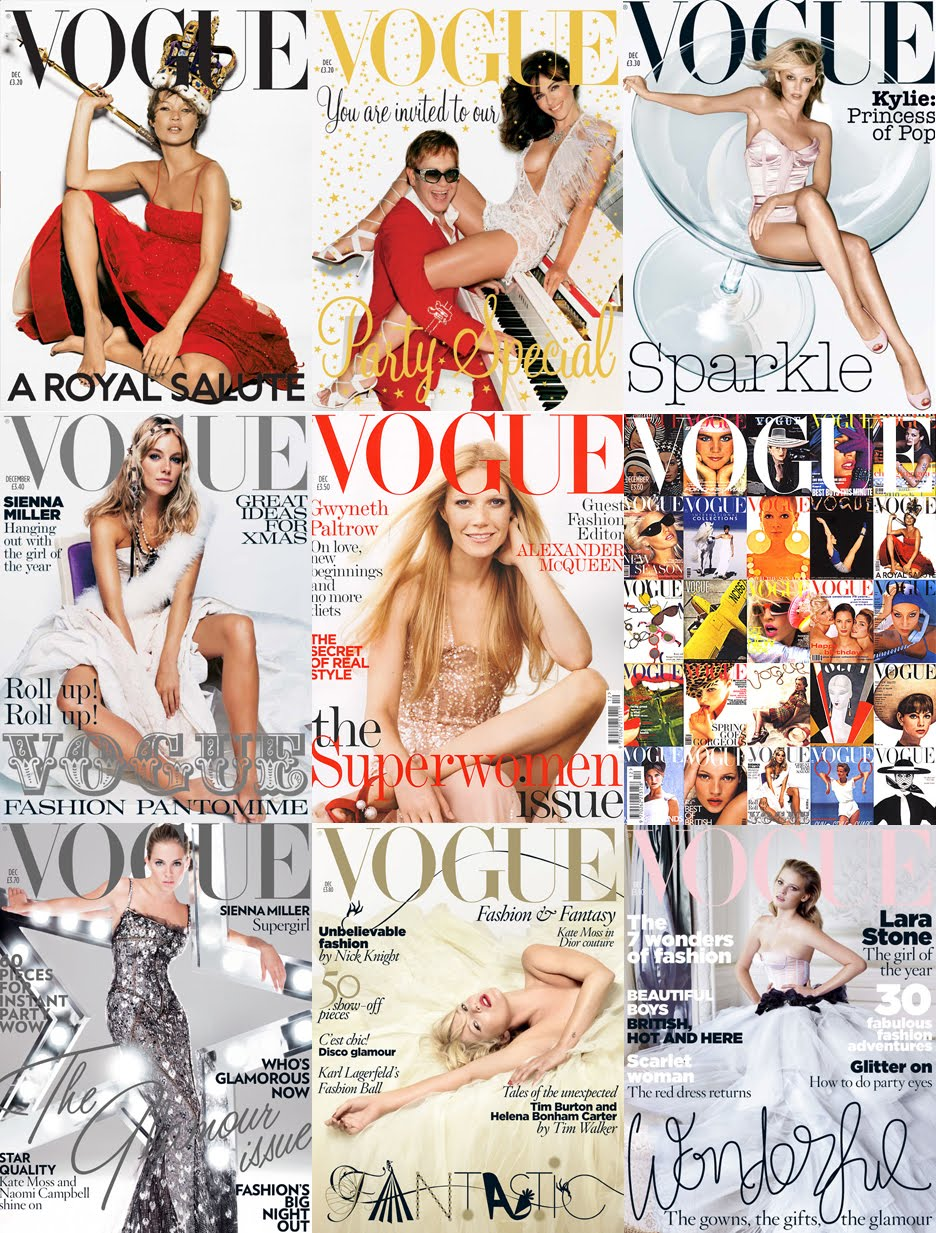 Vogue%2BUK%2BThe%2BDecember%2Bissues I also found this POTTERY BARN bedding(!) at the Good Will Clearance Center
