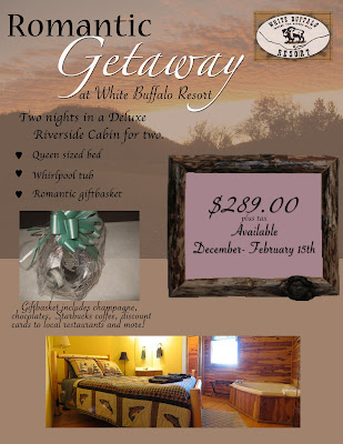Romantic Getaway Package at White Buffalo Resort