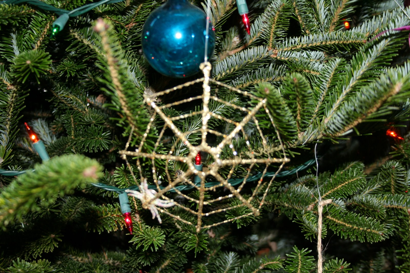 Spider on Ukrainian Xmas Tree