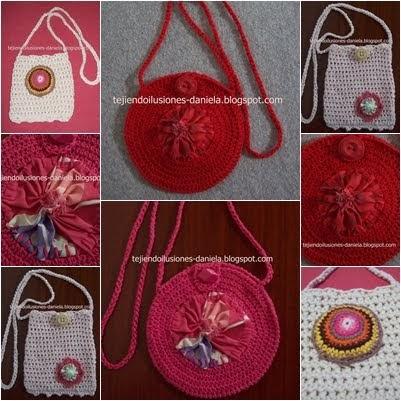 tejido crochet y artesan as carteritas tejidas