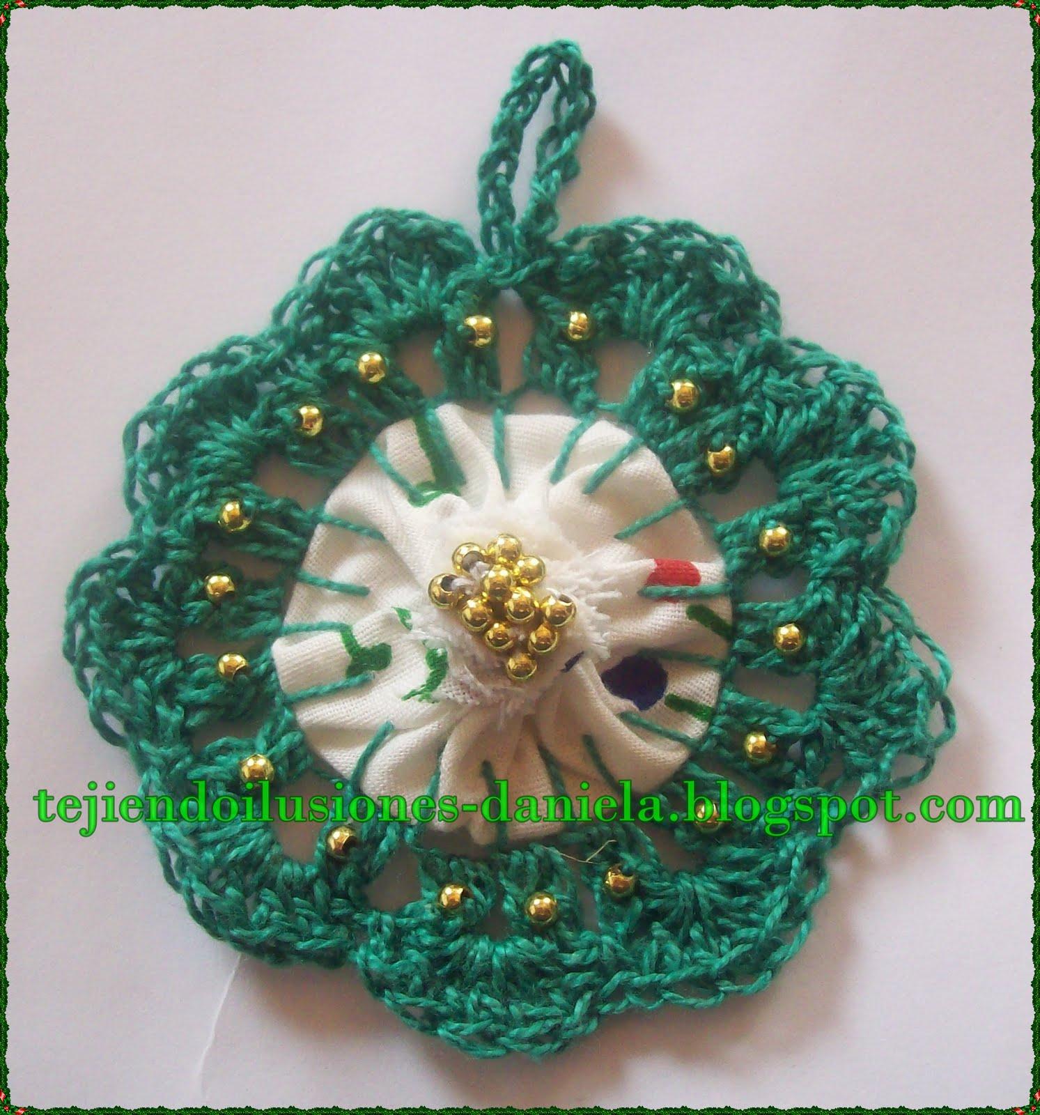 Tejido crochet y artesan as adornos navide os for Adornos navidenos tejidos a crochet 2016
