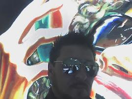 Making off durante a gravação do documentário sobre a arte de Piassa®. Oculos Chilli Beans.